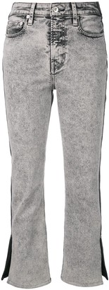 Proenza Schouler White Label PSWL colour-block cropped jeans