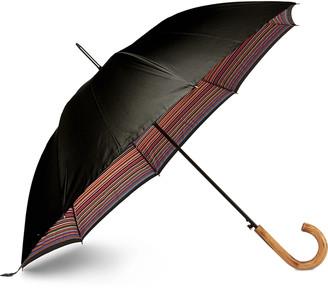 Paul Smith Striped Wood-Handle Umbrella