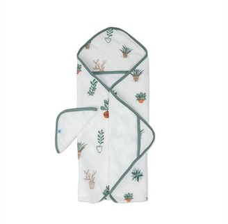 Little Unicorn Hooded Towel and Washcloth 100% Cotton Prickle Pots