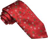 Asstd National Brand Hallmark Woven Small Snowflake Tie - Extra Long