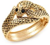 Avalaya Antique Gold Snake Bangle Bracelet