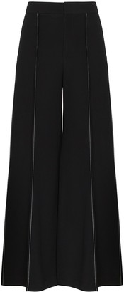 Marni Contrast-Stitch Flared Trousers