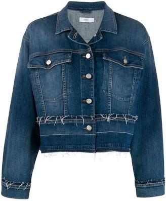 Closed Frayed Details Denim Jacket