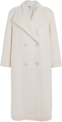 Alberta Ferretti Oversized Double Breasted Alpaca-Wool Coat