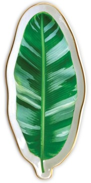 Chronicle Books Banana Leaf Shaped Porcelain Tray
