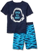 Gap Glow-in-the-dark shark short PJ set