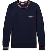 Moncler - Slim-fit Contrast-trimmed Cotton Sweater