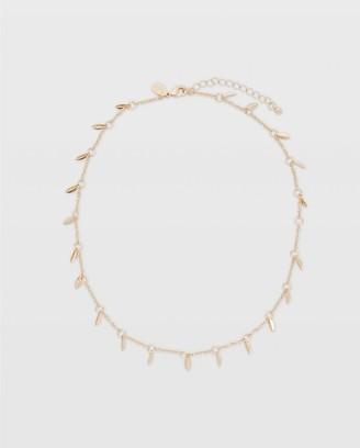 Club Monaco Short Leaf Necklace