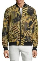 Versace Nero Graphic Printed Blouson Jacket