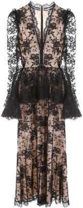 Alexander McQueen Sheer Panelled Dress
