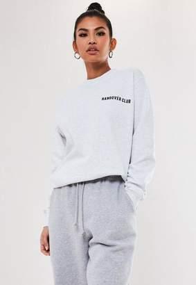 Missguided Gray Hangover Club Sweatshirt