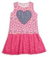 Design History Toddler's & Little Girl's Mixed Print Drop-Waist Dress