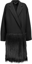 Stella McCartney Sandy wool-blend and faux fur coat