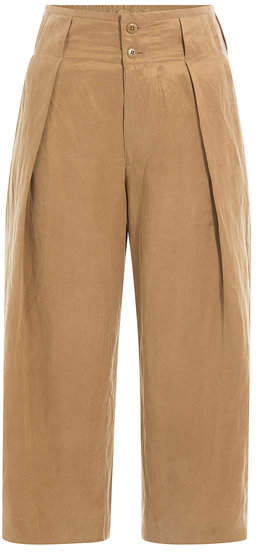 Closed Cropped Cotton Pants