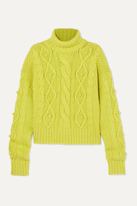 Gauge81 GAUGE81 - Nazca Cable-knit Merino Wool And Alpaca-blend Sweater - Lime green