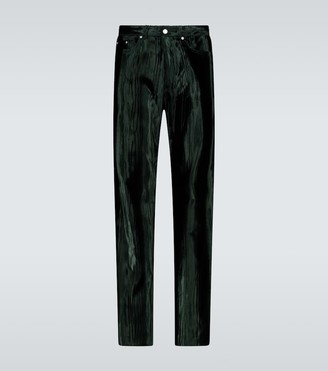 Dries Van Noten Straight-fit velvet pants