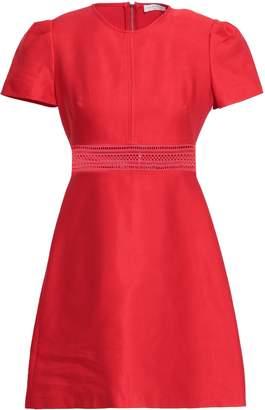 Sandro Lace-trimmed Cotton-blend Twill Mini Dress