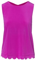 Banana Republic Quick-Dry Scallop Open-Back Support Tank