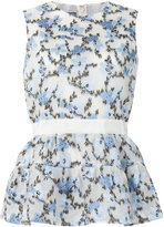 Alexander McQueen floral peplum top - women - Silk/Cotton/Polyamide/Viscose - 42