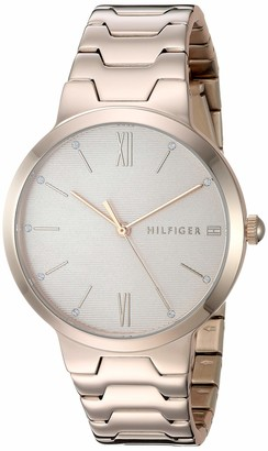 Tommy Hilfiger Women's Stainless Steel Quartz Watch with Carnation Gold Strap 16 (Model: 1781959)
