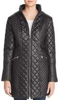 Via Spiga Diamond-Quilted Zip Coat