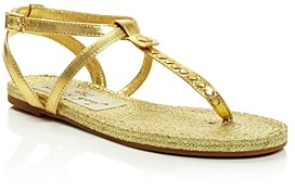 Jack Rogers Women's Evie Leather Flat Thong Sandals