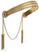 Jennifer Behr Florentine Tasseled Gold-plated Headband - one size