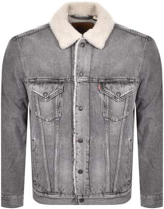 Levi's Levis Denim Sherpa Trucker Jacket Grey