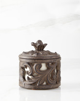 GG Collection G G Collection Ceramic Cup with Metal Acanthus Leaf Holder