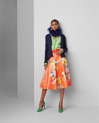 Ralph Lauren Clyde Print Leather Skirt