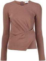 Lanvin draped jersey top - women - Cotton/Polyamide/Spandex/Elastane - 36