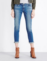 Frame Le Garcon turn-up skinny mid-rise jeans