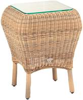 House of Fraser Cozy Bay Jamaica Four Seasons Rattan Glass Top Side Table
