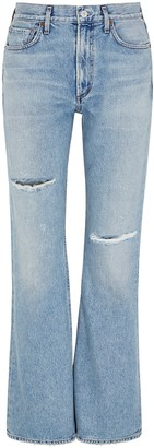 Citizens of Humanity Libby blue distressed bootleg jeans