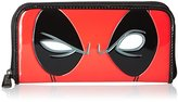 Loungefly Marvel Deadpool Eyes Zip Around Wallet