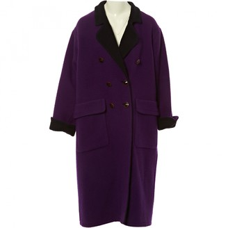 Saint Laurent Purple Wool Coats