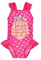 Mothercare Girl's Spotty Ruffle Pineapple Swimsuit