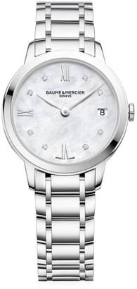 Baume & Mercier Classima Stainless Steel & Diamond Bracelet Watch