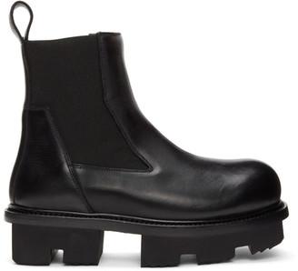 Rick Owens Black Bozo Sneak Megatooth Boots