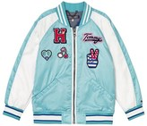 Tommy Hilfiger Blue Satin Badge Varsity Jacket