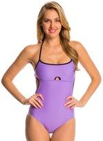 Speedo Women's Solid Keyhole One Piece Swimsuit 8135919
