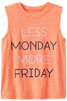 """Jumping Beans Toddler Boy Jumping Beans® """"Less Monday More Friday"""" Snow Nep Muscle Tank Top"""