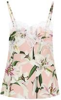 Dolce & Gabbana Floral silk-blend crepe camisole