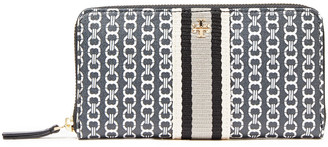 Tory Burch Printed Coated-cotton Wallet