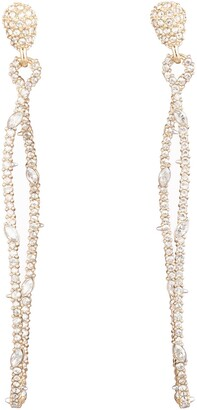 Alexis Bittar Twisted Linear Pave Crystal Earrings