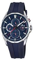 Lotus Men's Quartz Watch with Blue Dial Analogue Display and Blue Rubber Strap 18320/2