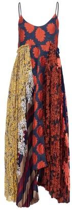 Biyan Alexa Panelled Floral-brocade Midi Dress - Womens - Multi