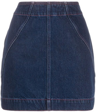 Philosophy di Lorenzo Serafini Denim Mini Skirt