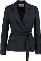 Maje Belted crepe blazer