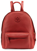 Tory Burch Zip-Around Leather Backpack, Light Redwood